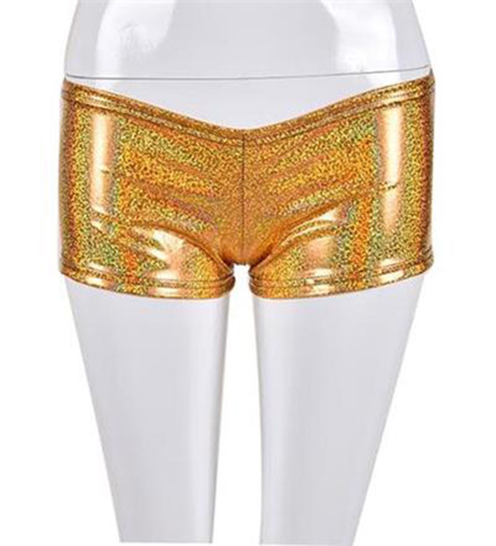 Metallic Sequin Hot Pants Wet Look festivals Glitter Shiny Shorts Disco Party