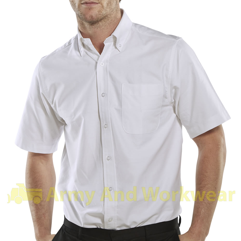mens oxford cotton work shirt smart casual button down ForButton Down Uniform Shirts