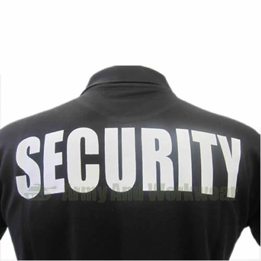 Black t shirt security - Security Guard Bouncer Doorman Collar Polo T Shirt