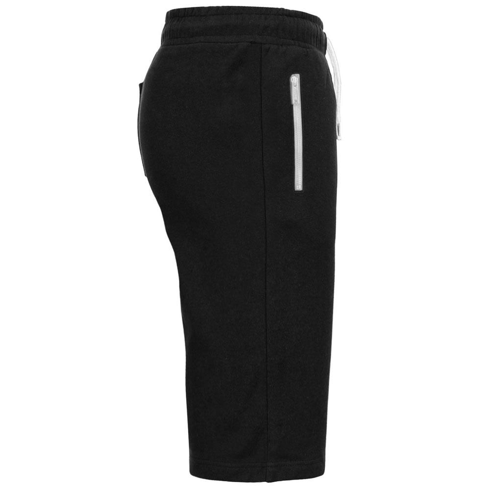 Mens Zip Joggers 3//4 Shorts Sport  Skinny Track Knee Length Shorts Gym Bottom