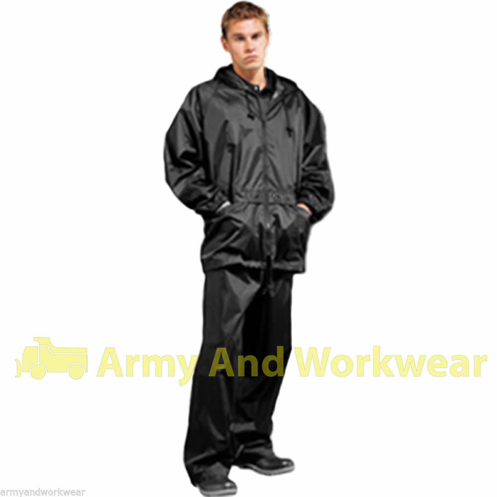 NEW-WATERPROOF-RAIN-SUIT-JACKET-TROUSER-SET-RAINSUIT-SPORTS-TRAINING-WALKING