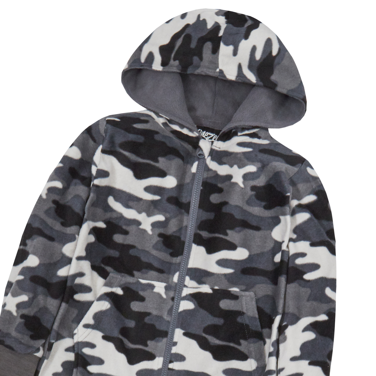 Kids Army Camo Print 1Onesie Hooded Jumpsuit All in One Boys Fleece Camouflage