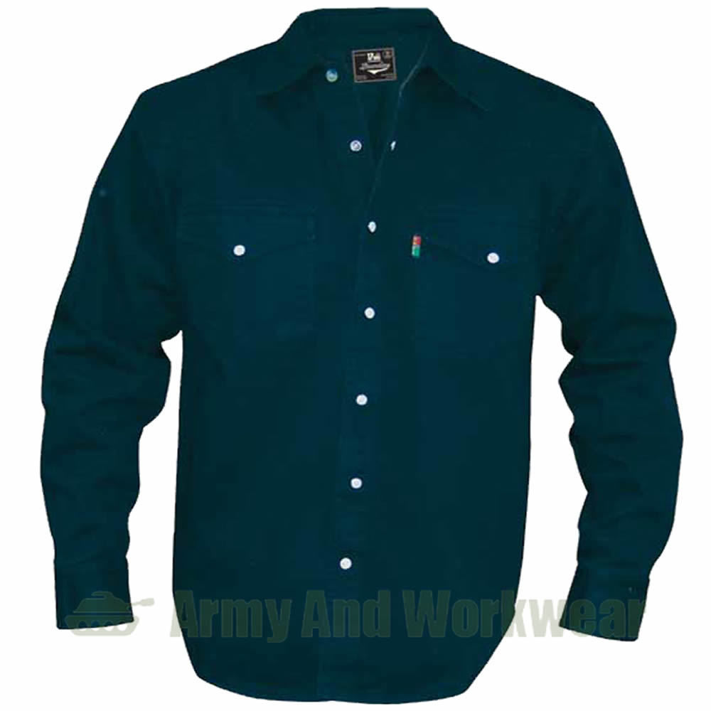 MENS-SUPERB-QUALITY-KING-BIG-SIZE-WESTERN-HEAVY-DENIM-JEAN-SHIRT-STUD-BUTTON