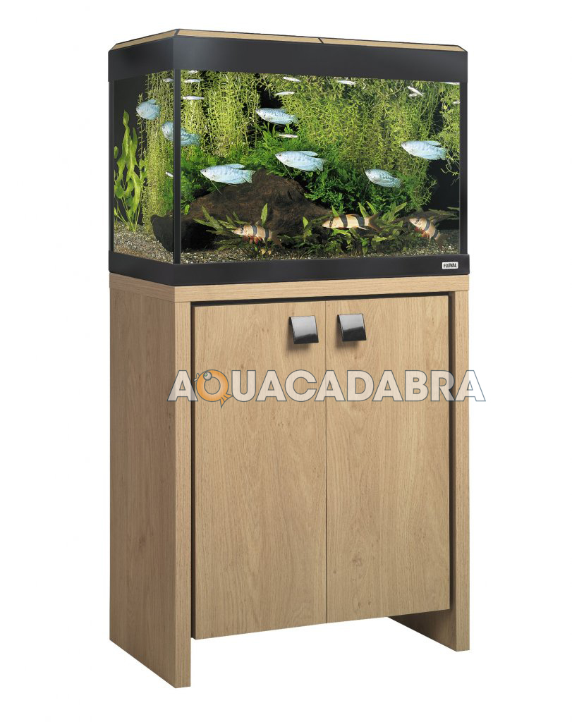 Fluval roma aquariums with cabinets black oak filter for Fish tank cabinets