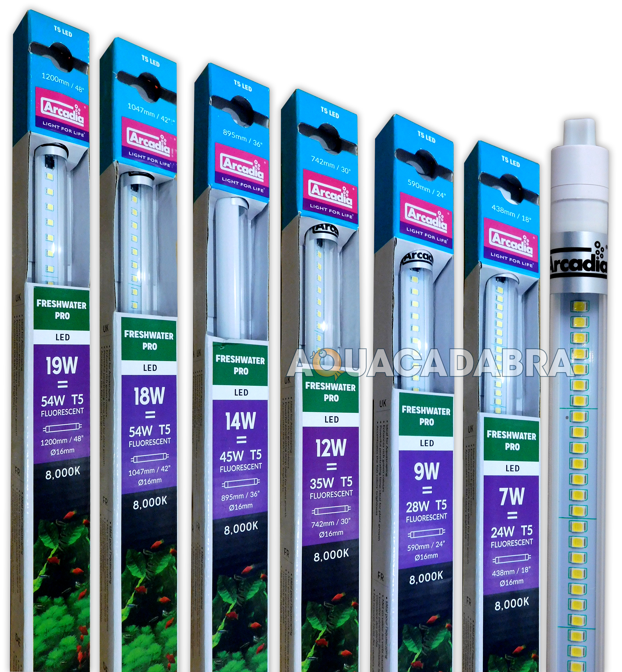 arcadia t5 led lamp bulb tubes lighting juwel sizes aquarium fish tank. Black Bedroom Furniture Sets. Home Design Ideas
