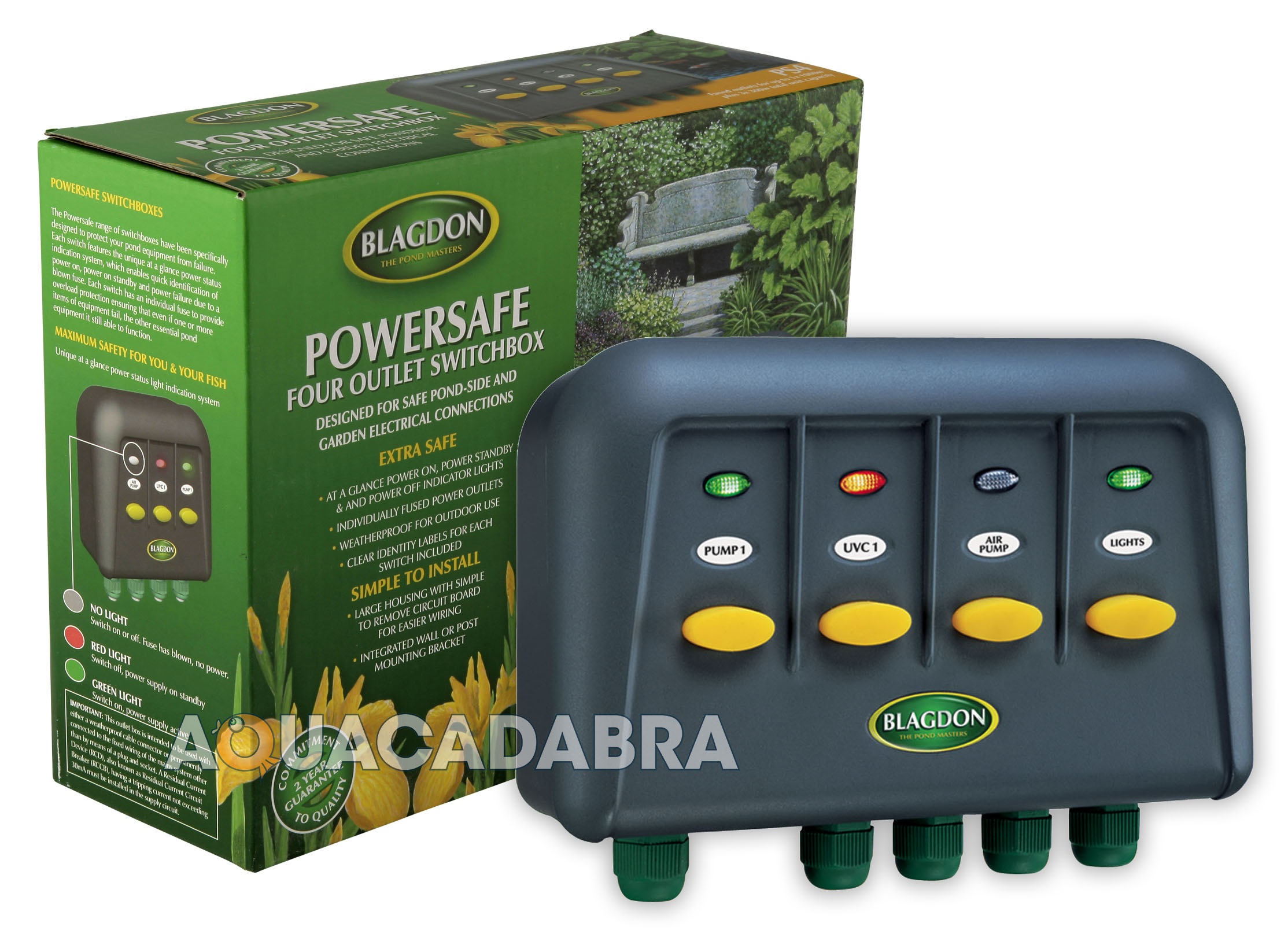 Blagdon Powersafe Garden 4 Way Pond Outlet Switch Box