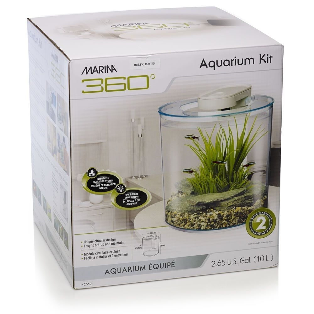 round aquarium fish tank led lighting tropical uprade heater water pump filter ebay. Black Bedroom Furniture Sets. Home Design Ideas