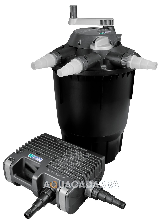 Hozelock bioforce revolution aquaforce kit pressure filter for Fish pond filter pump