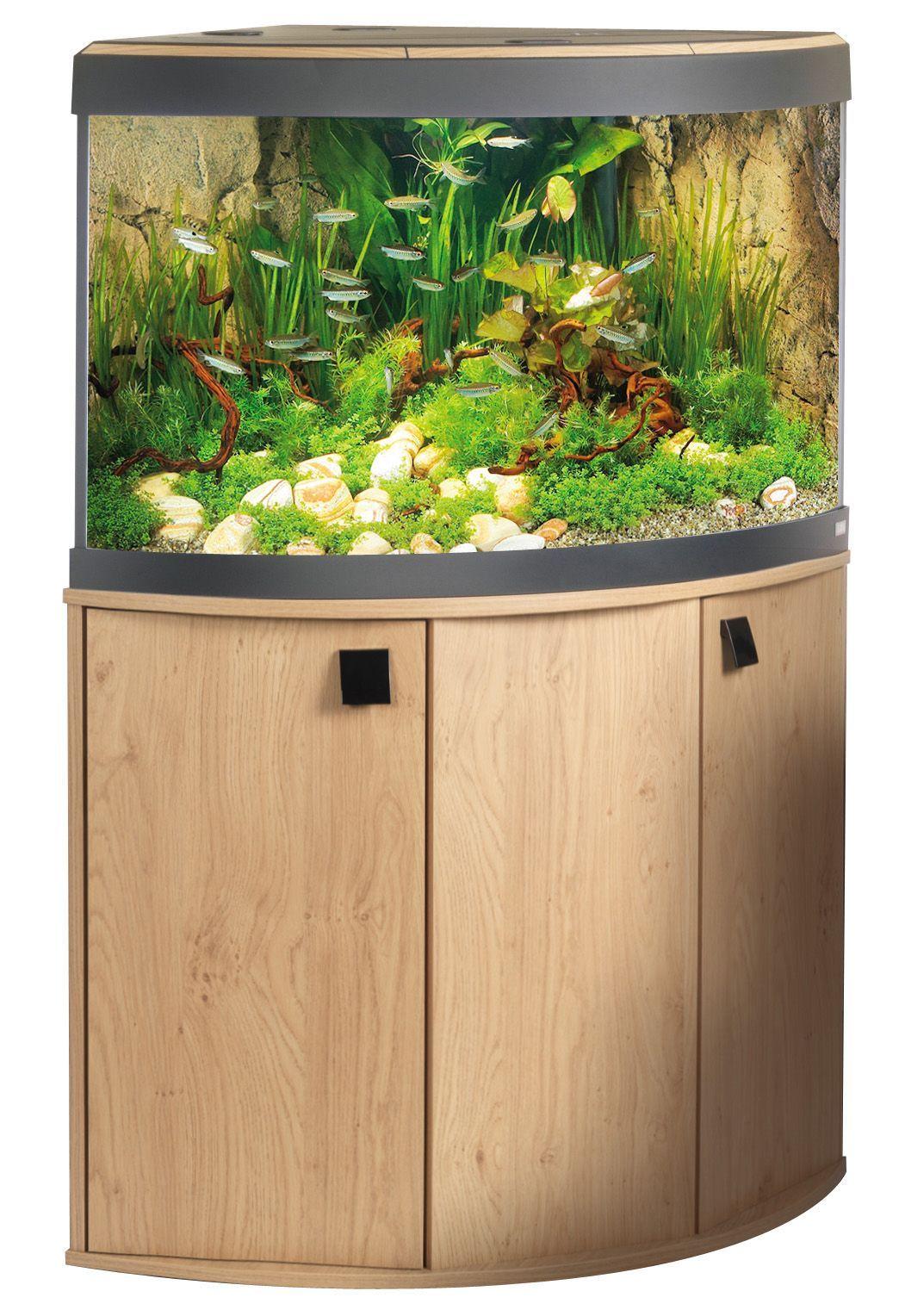 520l cabinet aquarium fish tank tropical - Fluval Vicenza Venezia Fish Tank Cabinet Aquarium Natural Oak Bow Front Curve