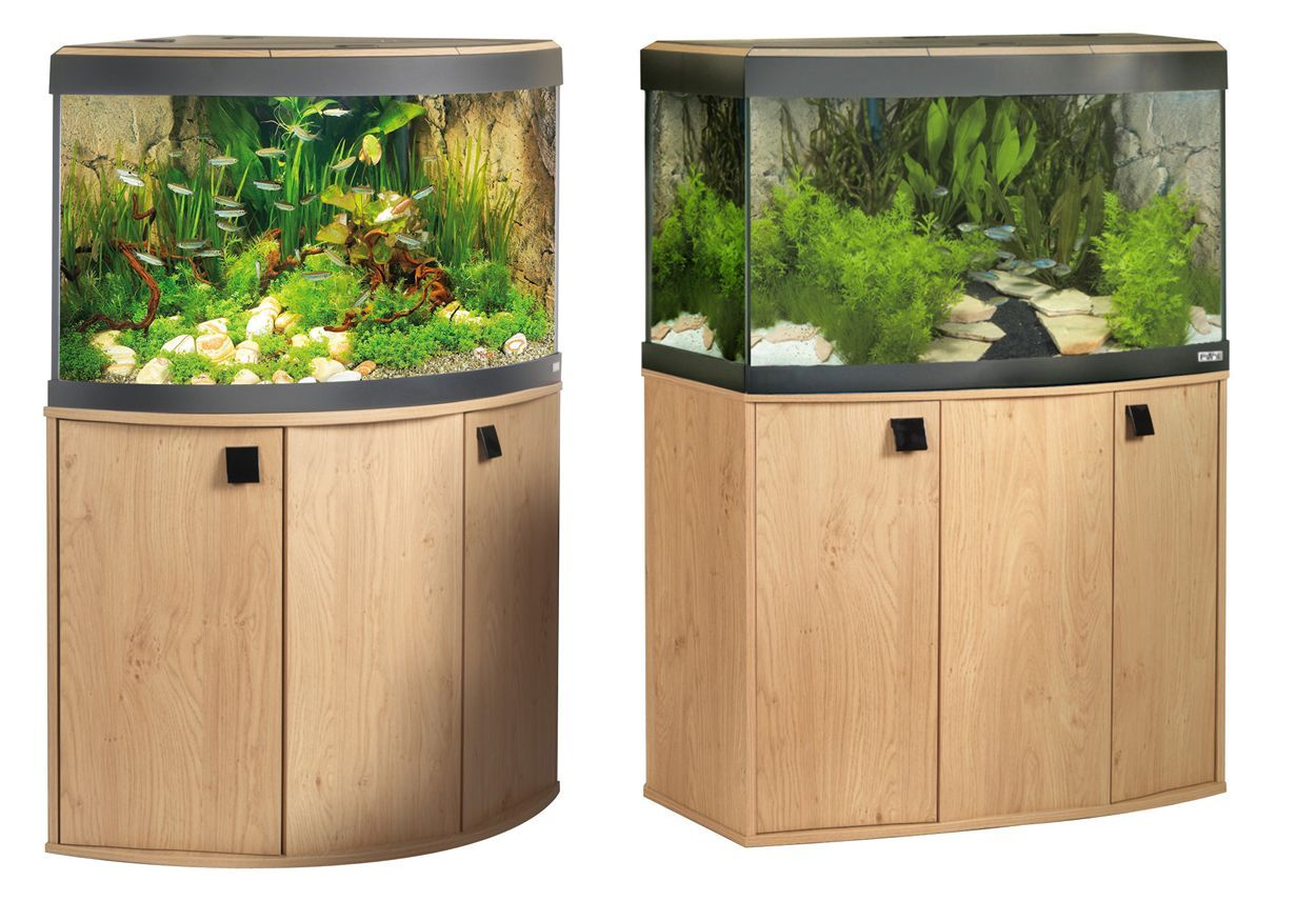 Fluval vicenza venezia fish tank cabinet aquarium natural for Natural fish tank