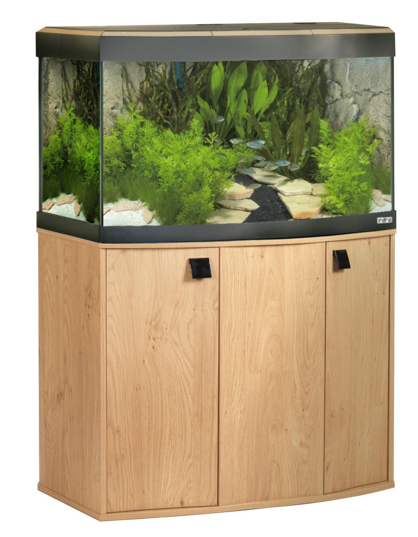 Cabinet aquarium fish tank tropical - Fluval Vicenza Venezia Fish Tank Cabinet Aquarium Natural Oak Bow Front Curve