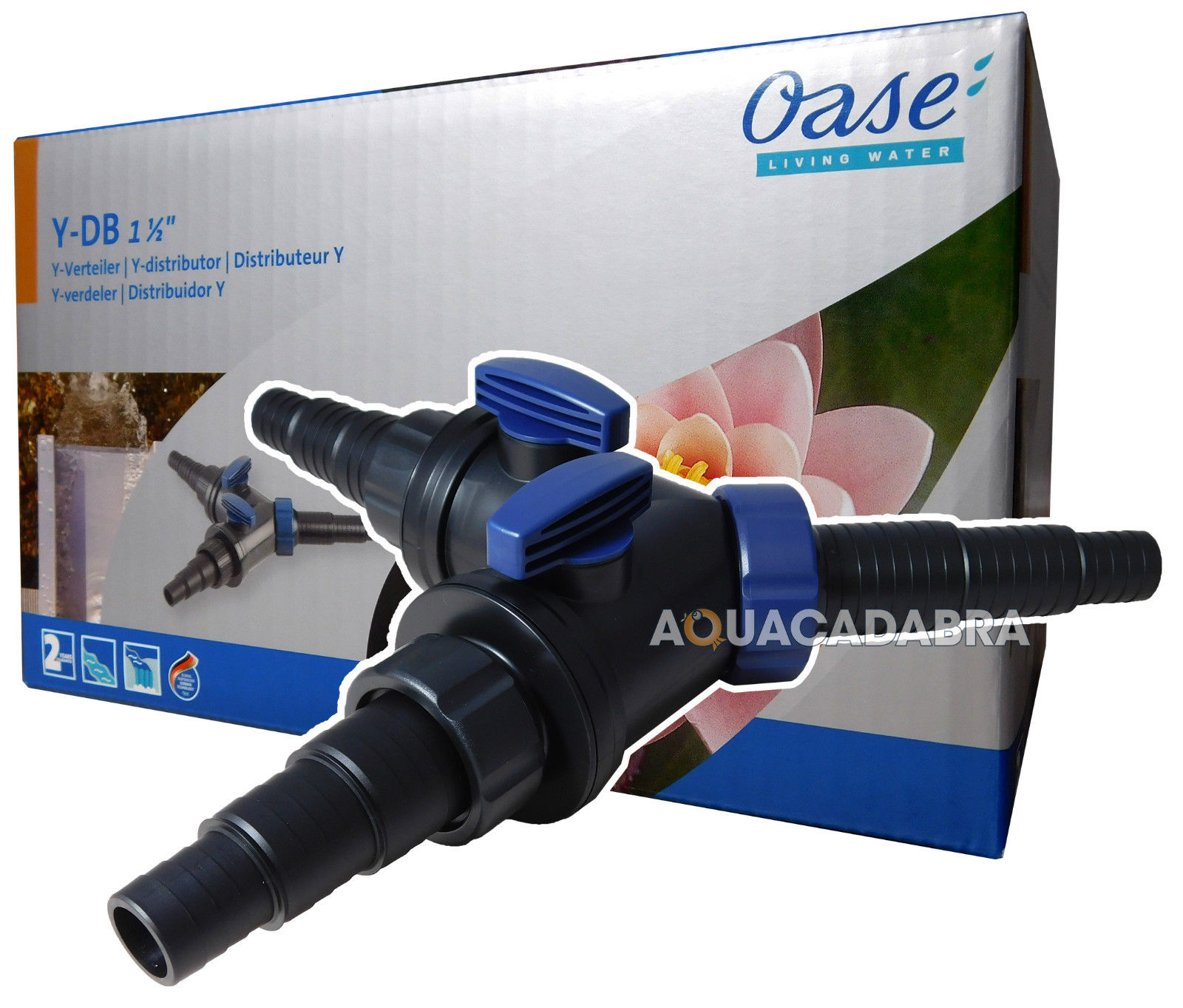 Oase in line flow regulator y distributor pipe t tap fish for In line pond filter