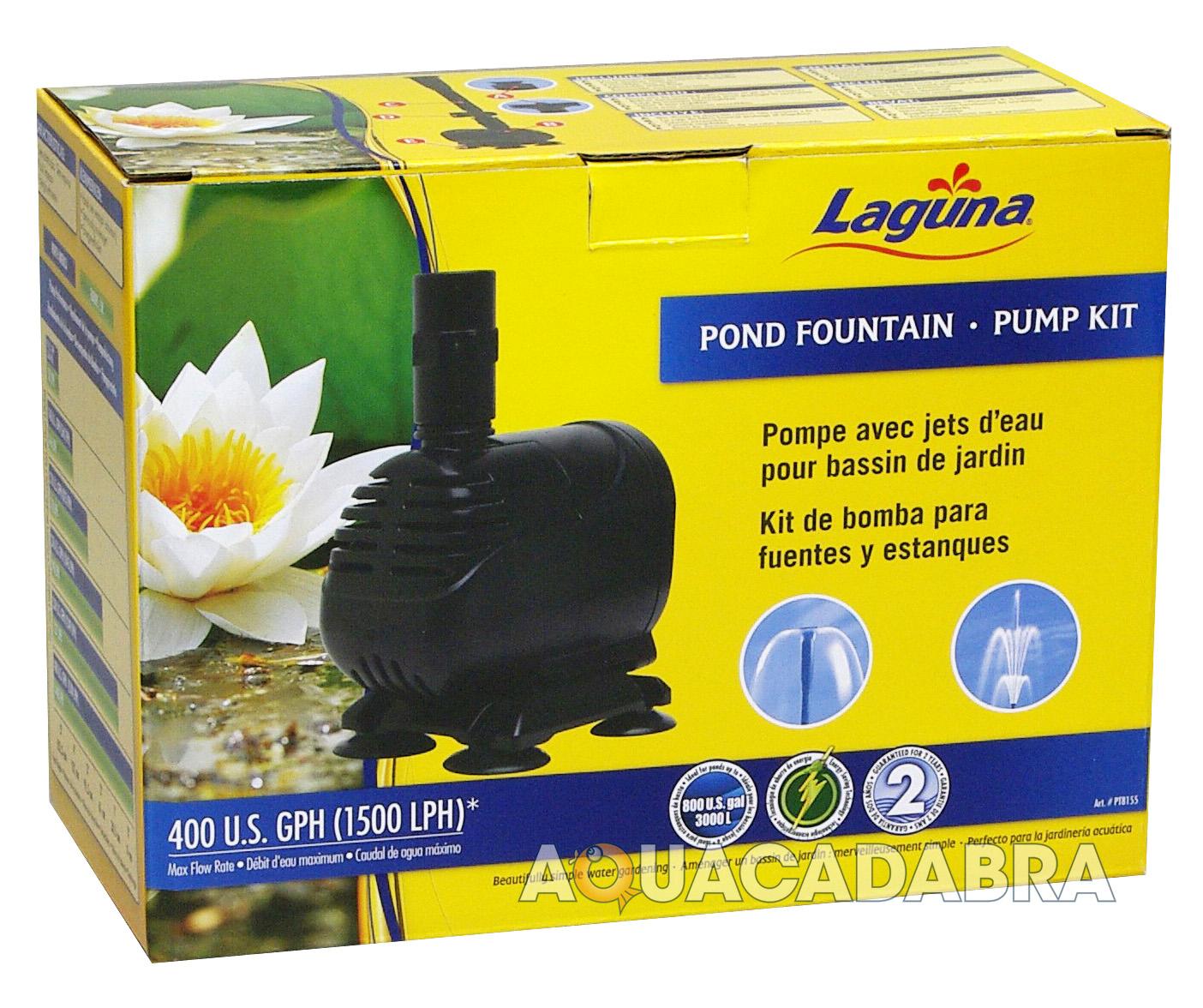 Laguna pond fountain pump kit 1500 lph garden goldfish for Goldfish pond kits