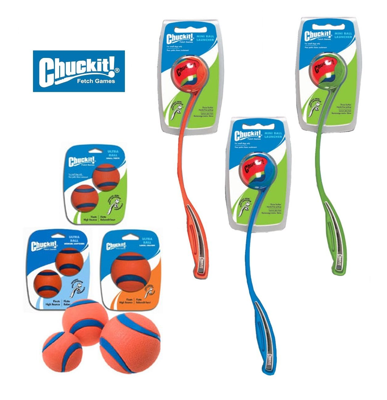 Chuckit Ball Thrower Launcher Dog Toy Floating Fetch Sport