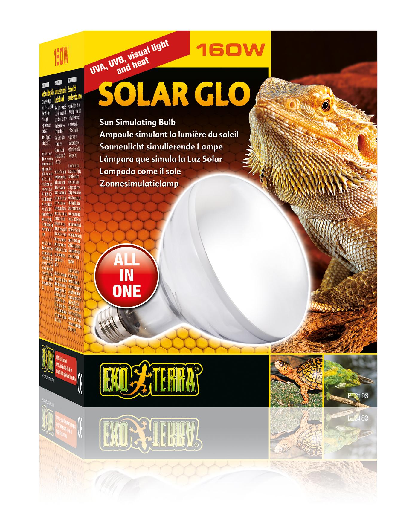 Exo Terra Solar Glo Heat Bulb Daylight Reptile Lighting Uvb Uva Lamp Light Ebay