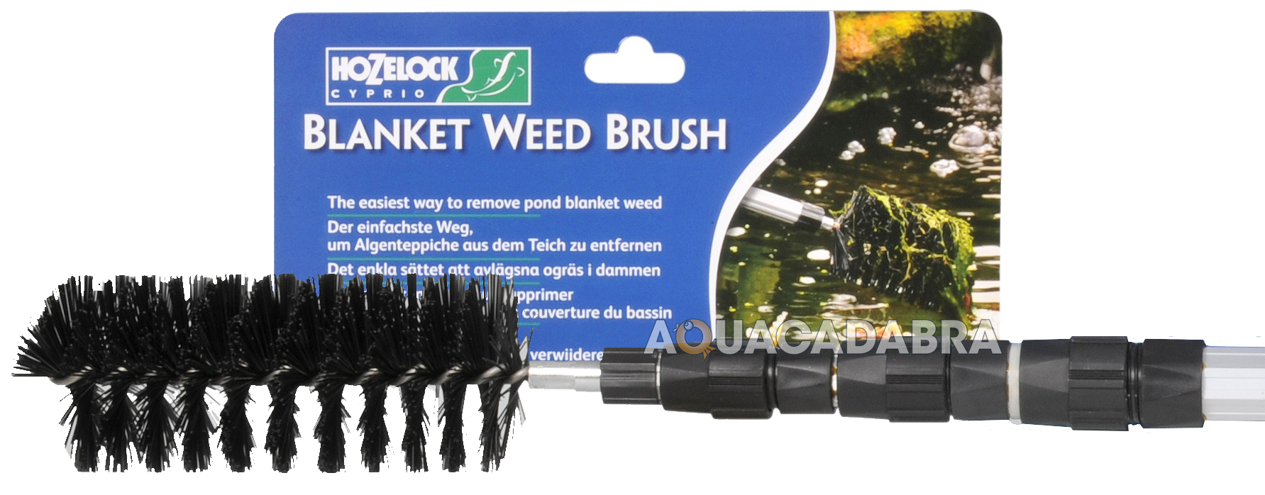 Hozelock blanket weed remover adjustable cleaning brush for Garden pond cleaning nets