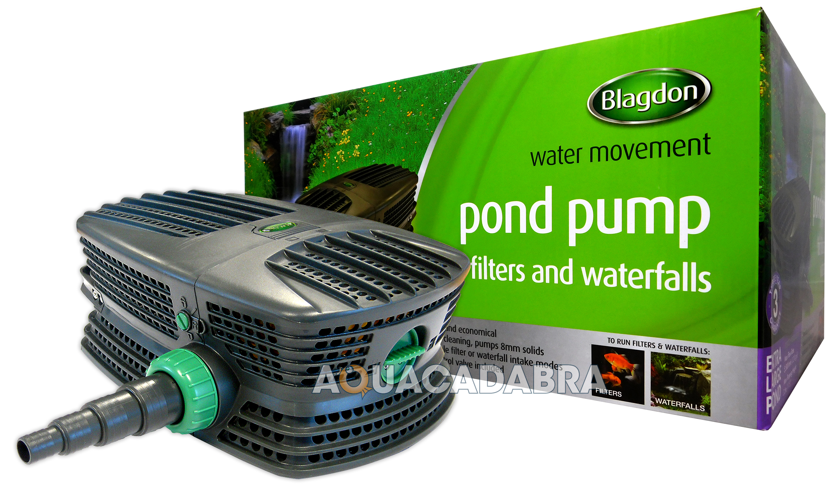 Blagdon force hybrid fh garden fish pond filter pump koi for Fish pond pumps and filters