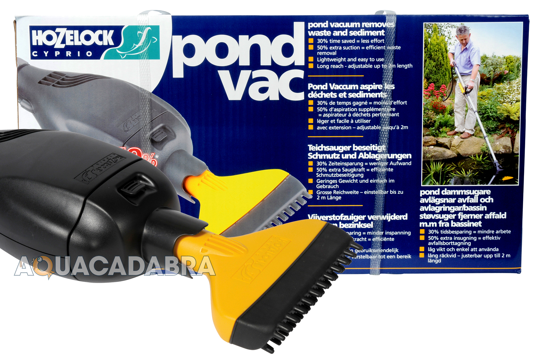 Hozelock pond vacuum garden hoover fish vac koi goldfish for Koi pond vacuum