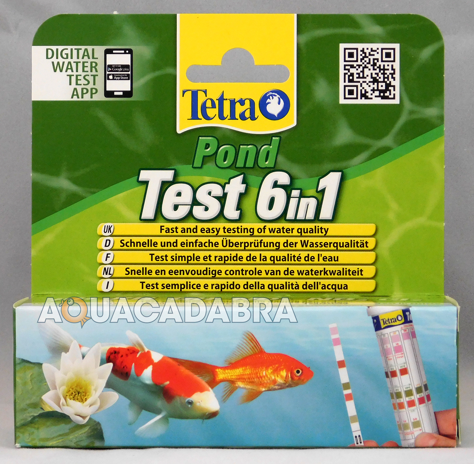 Tetra pond strips 6 in 1 quick test kit koi fish water for Koi pond water quality levels