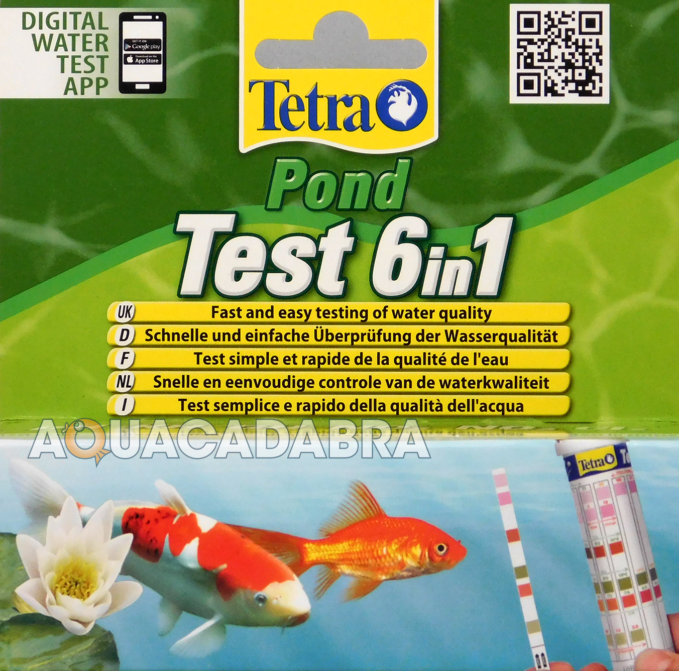 Tetra pond strips 6 in 1 quick test kit koi fish water for Koi pond water quality