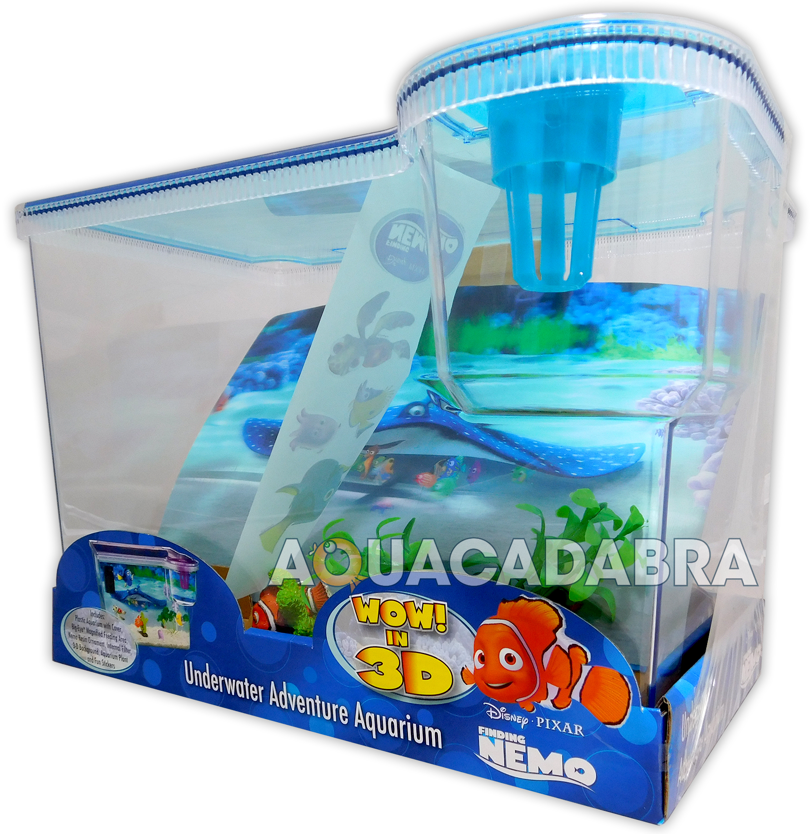 Fish for first tank - Finding Nemo 3d Aquarium 15l First Fish Tank Dory Disney With Background Lid