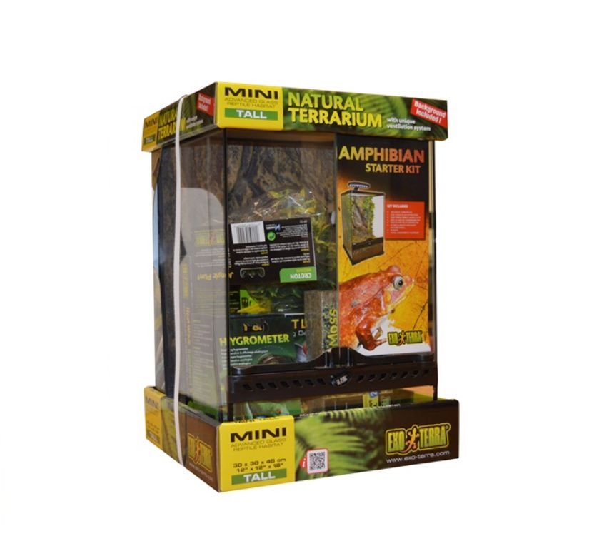 EXO TERRA GLASS TERRARIUM STARTER KIT REPTILE BOX INSECT