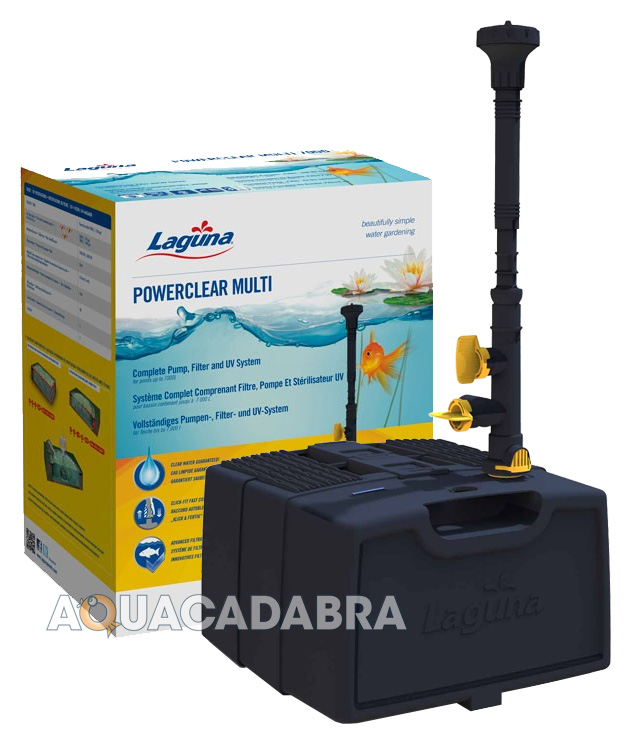 Laguna powerclear all in one pump filter uv system garden for Complete koi pond filtration systems
