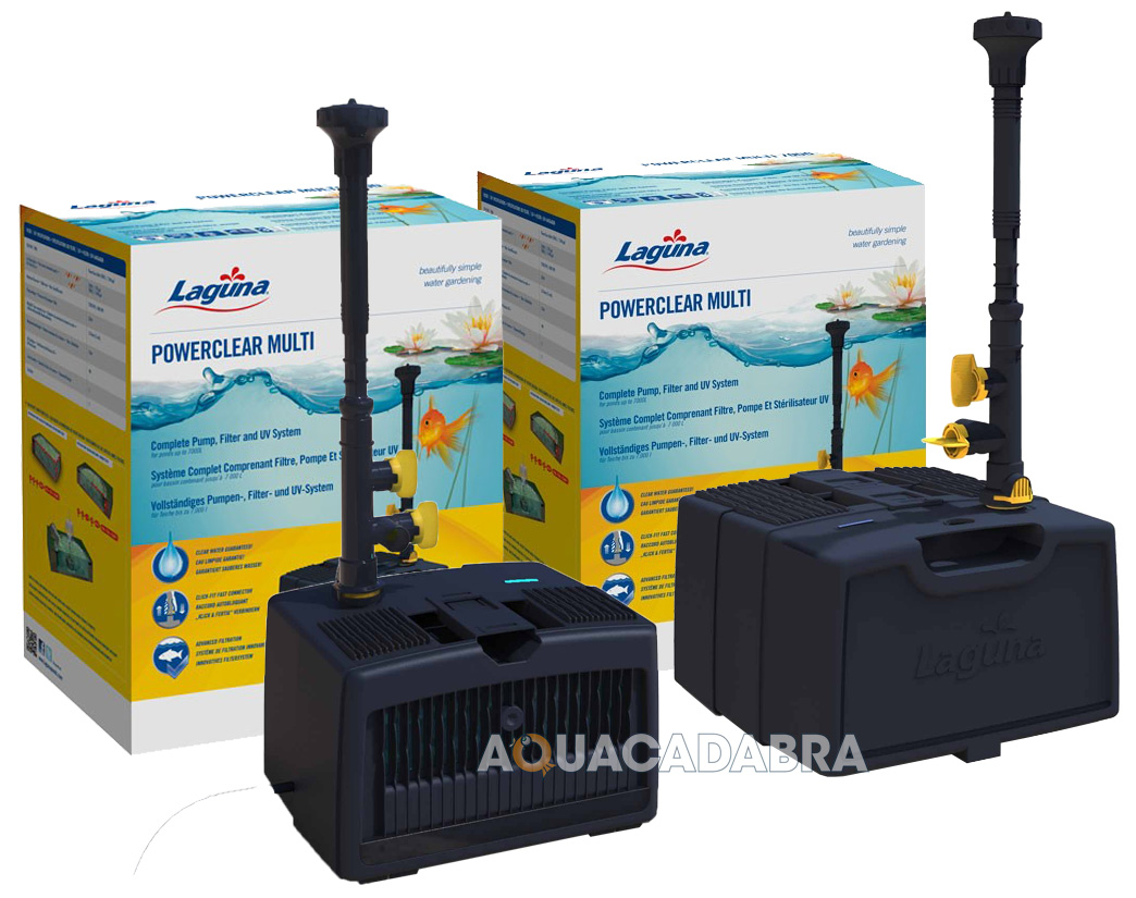 Laguna powerclear all in one pump filter uv system garden for Pond pump and filter system