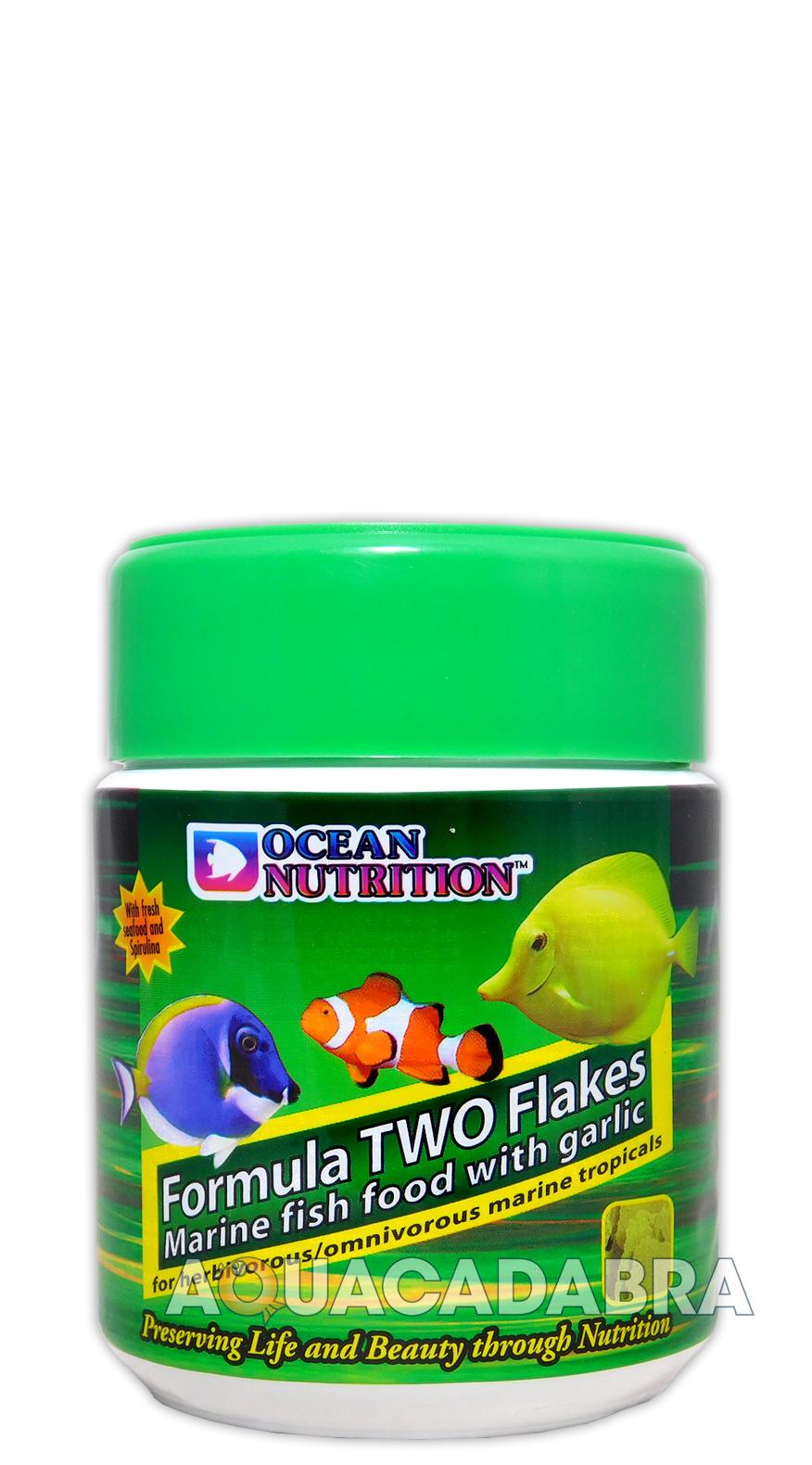 Ocean nutrition formula two marine flake herbivore fish for Saltwater fish food