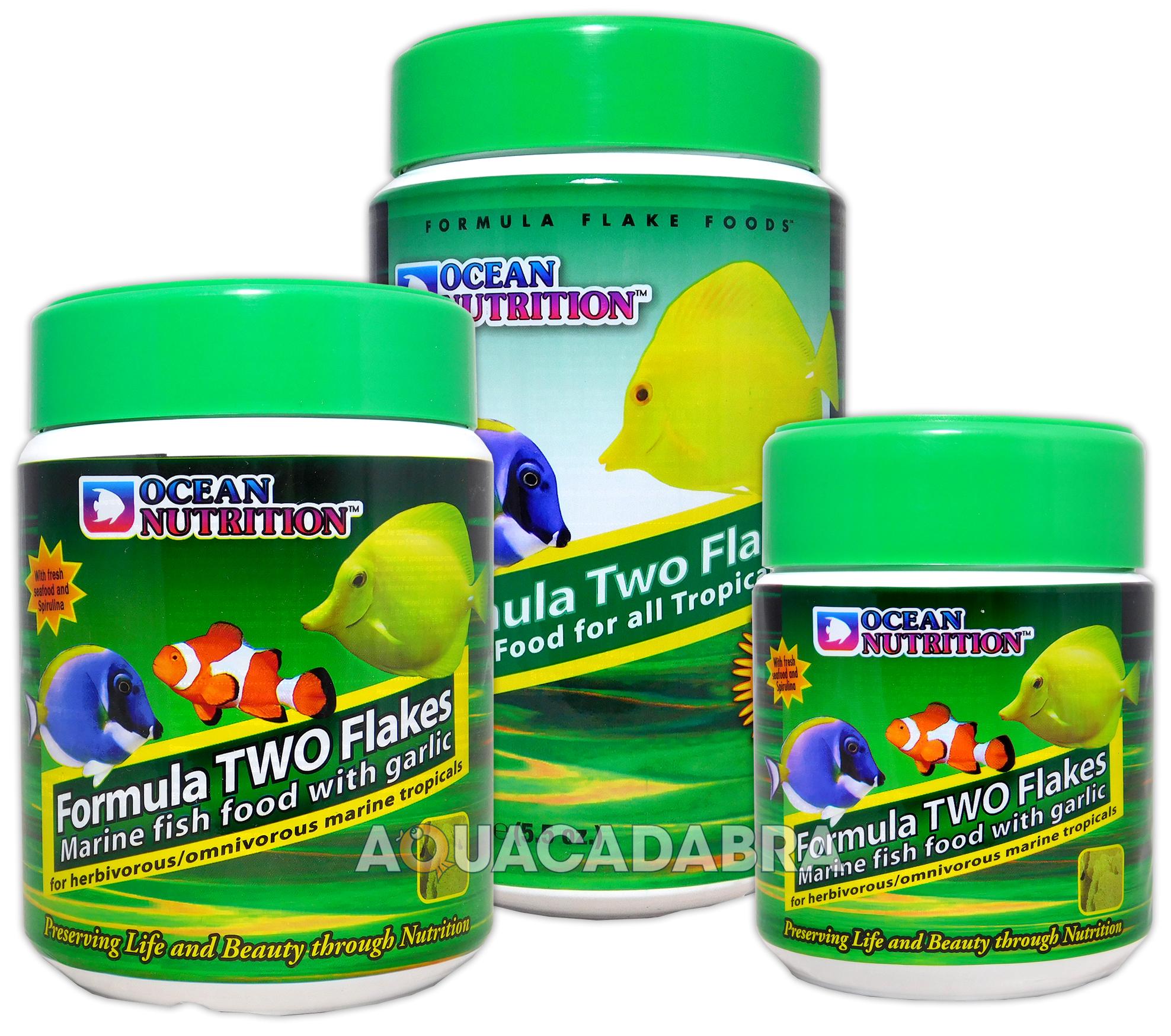 Herbivorous freshwater aquarium fish - Ocean Nutrition Formula Two Marine Flake Herbivore Fish Food Algae Aquarium Tank