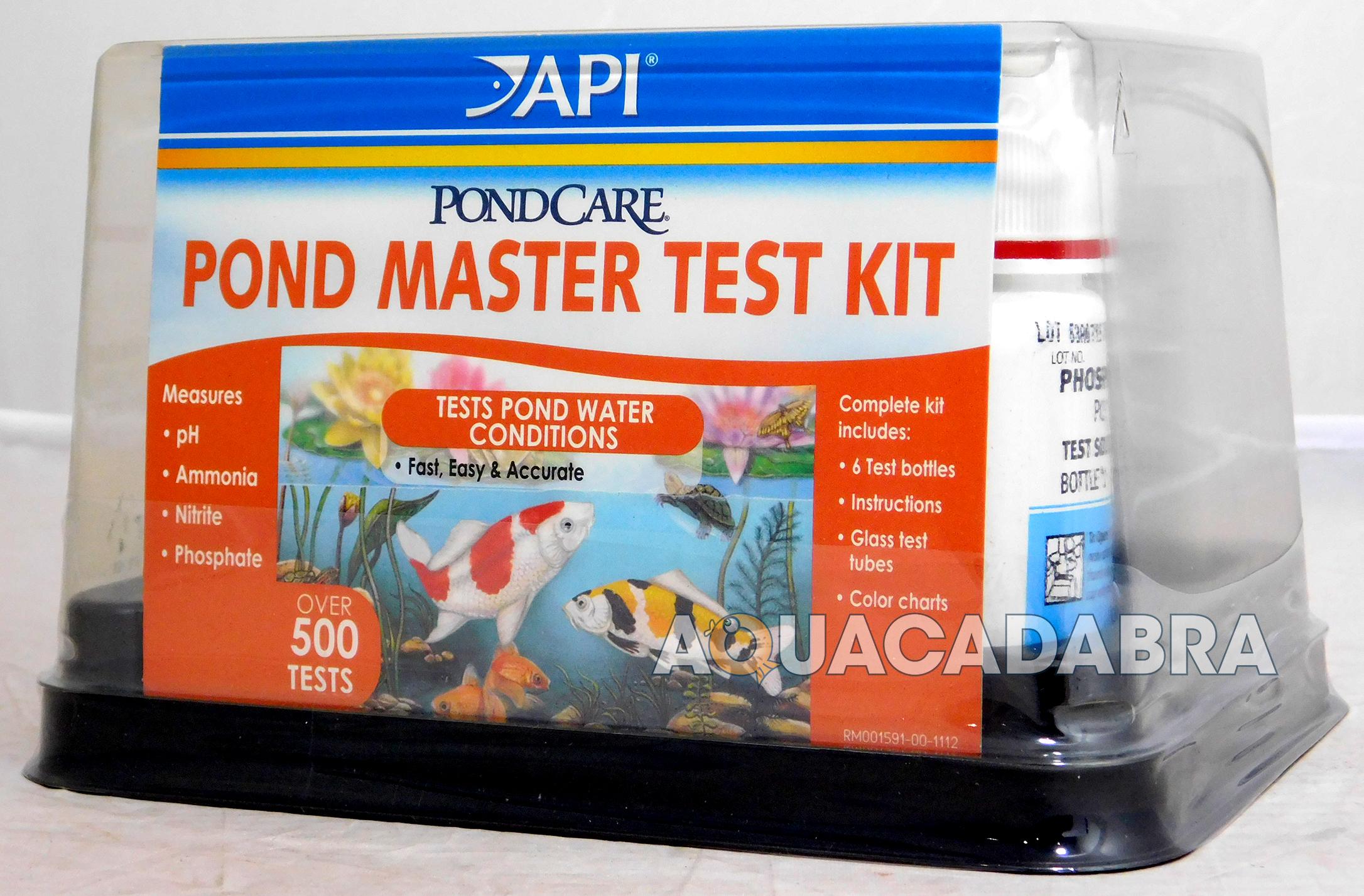 Api pond master test kit goldfish koi testkit pond care for Goldfish pond care