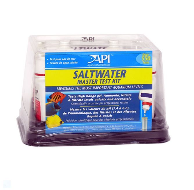 Api master test kits fresh water marine reef saltwater for Saltwater fish tank kit