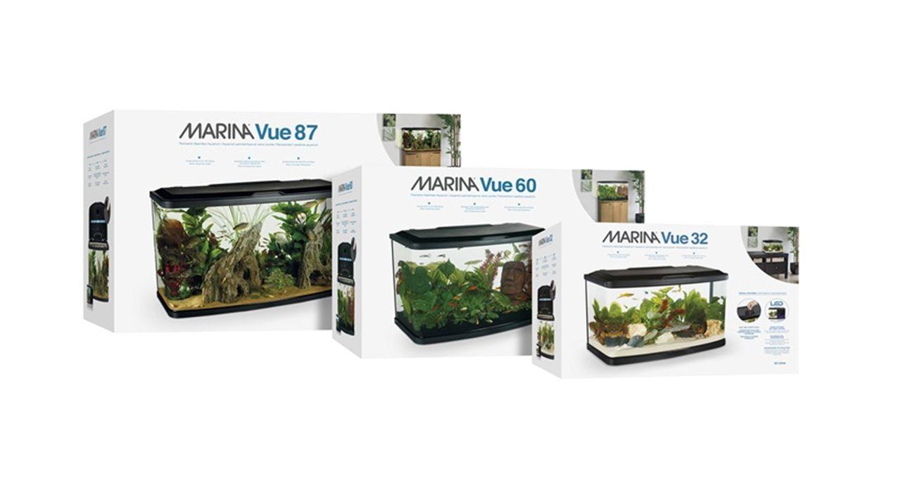 520l cabinet aquarium fish tank tropical - Hagen Marina Vue Fish Tank Black Aquarium Cabinet Led Filter Coldwater Tropical
