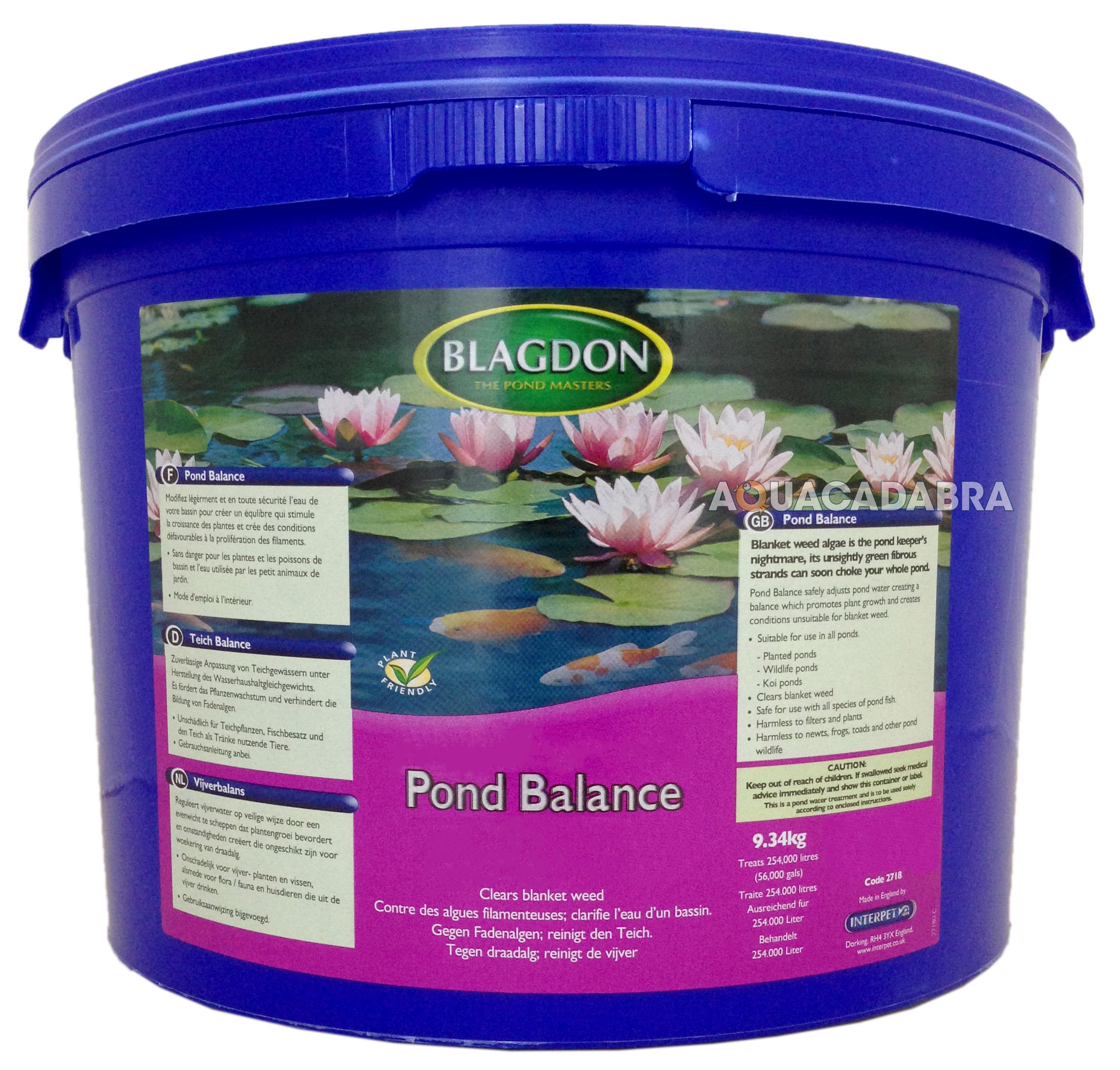 Blagdon pond balance 1500 3000 9000 56000 gallon fish for 1500 gallon koi pond