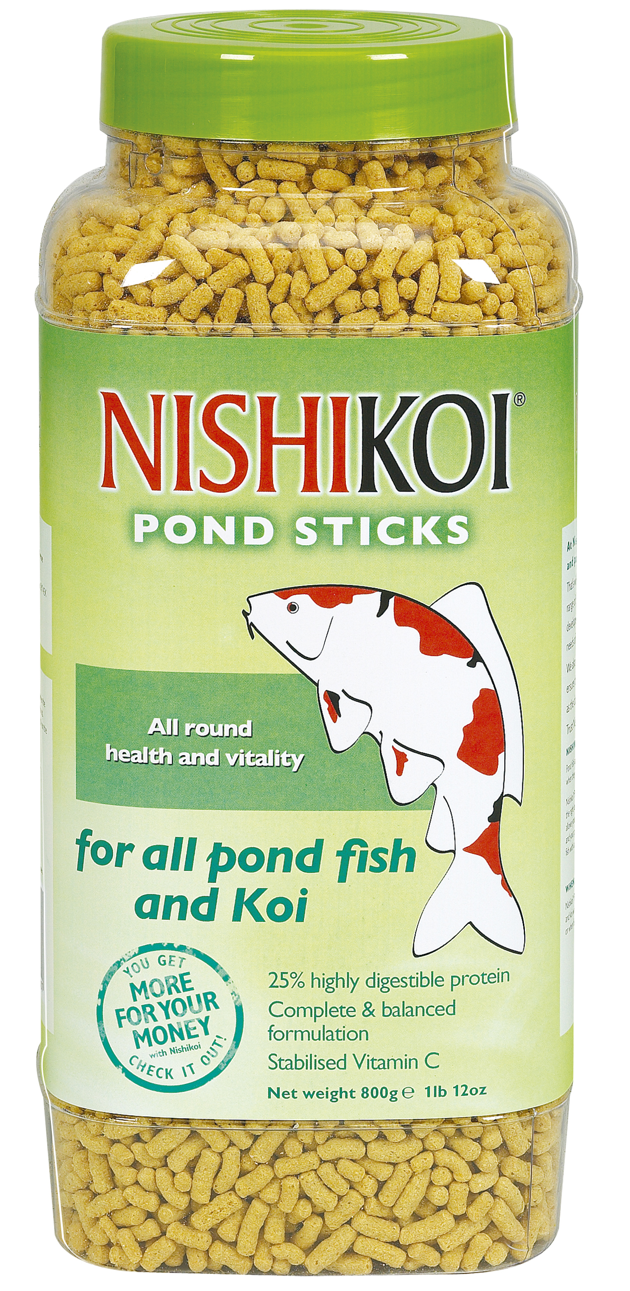 Nishikoi pond sticks floating fish food healthy goldfish for Koi fish pond for beginners
