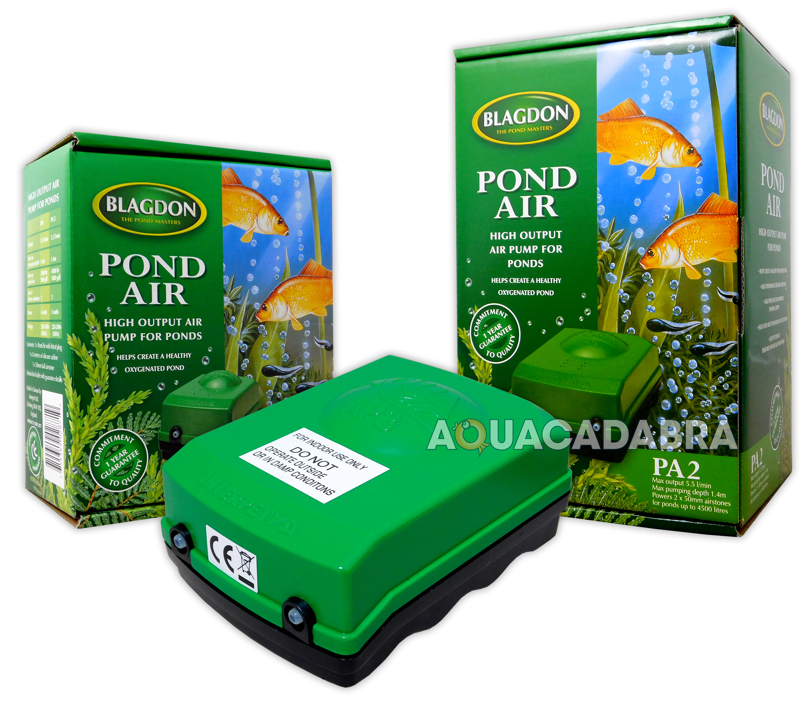 Blagdon garden pond air 1 2 air pump airline stone for Garden pond air pumps