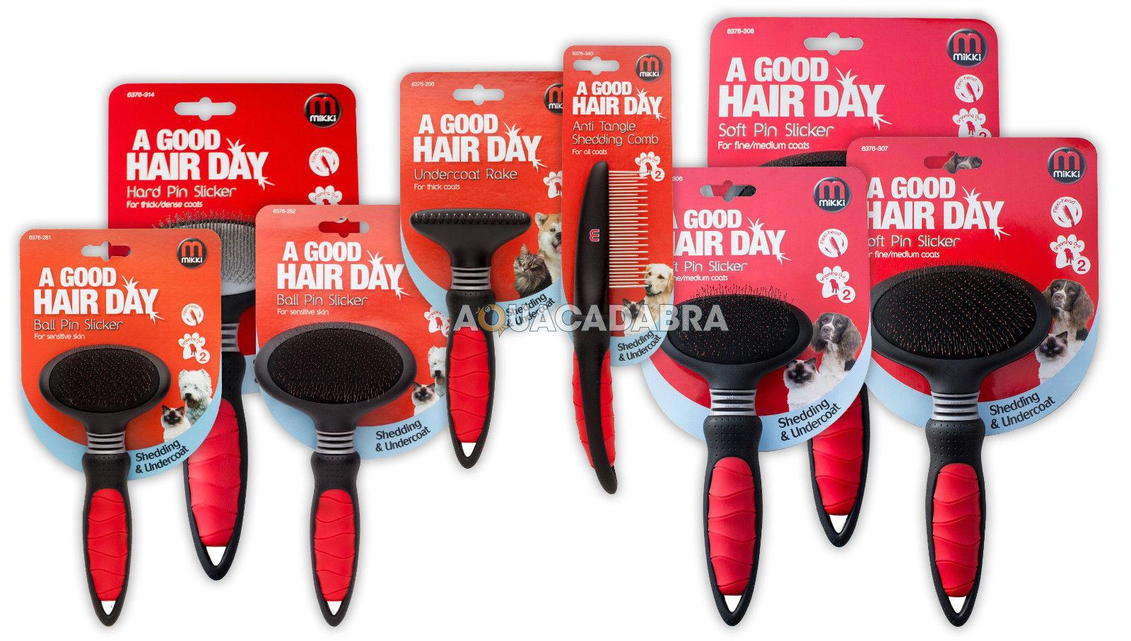 Mikki Dog Grooming Soft Hard Ball Pin Brushes Rake Comb