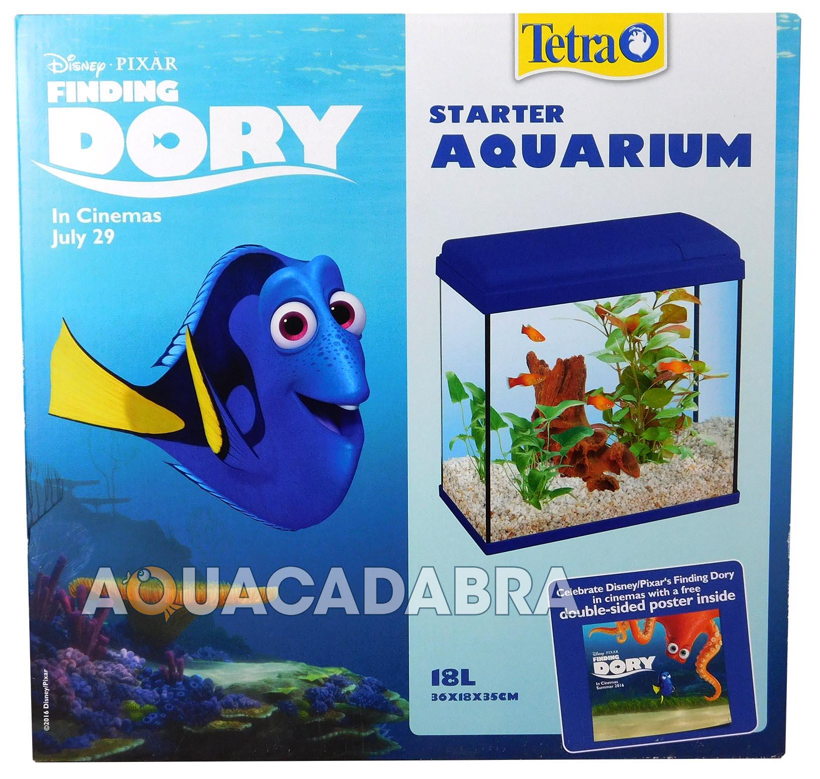 Disney finding dory 18l starter aquarium fish tank poster for Finding dory fish tank