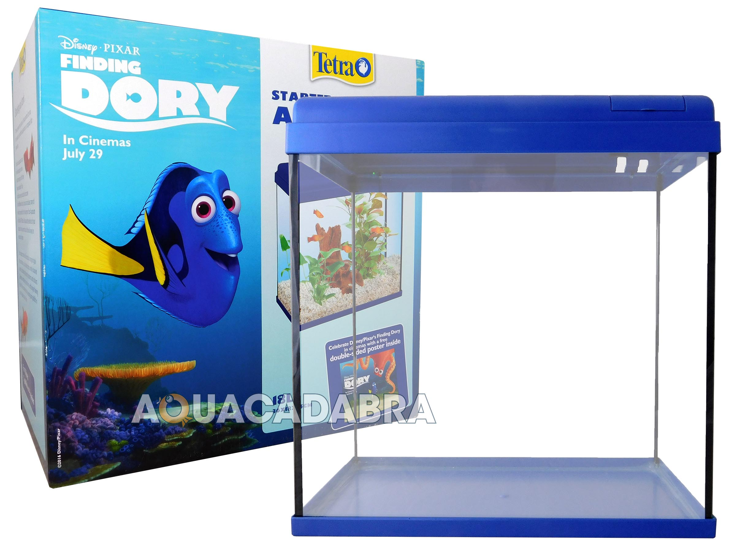 DISNEY FINDING DORY 18L STARTER AQUARIUM FISH TANK POSTER FILTER GRAVEL TETRA   eBay