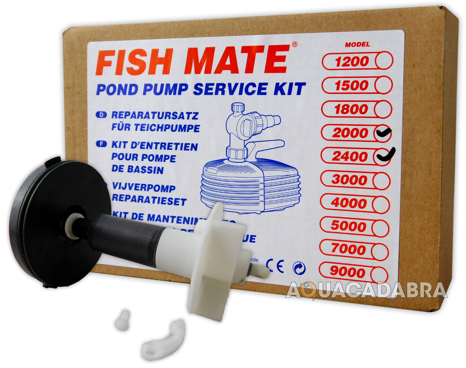 Fish mate pump replacement impeller service kit pond for Small pond pump filter kit