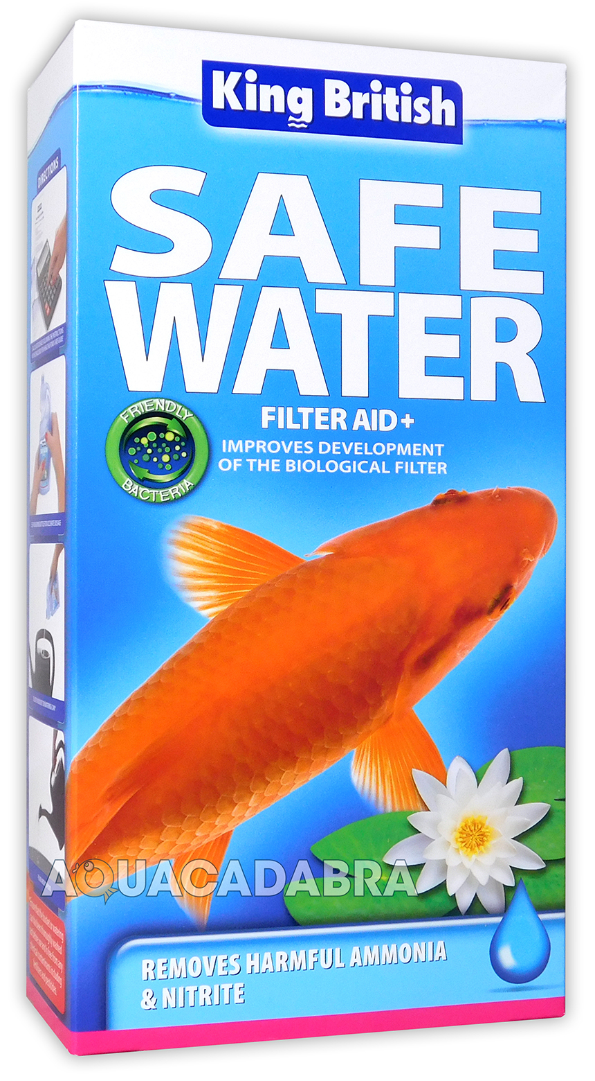 King british filter aid safe water pond nitrite ammonia for Nitrite in fish tank