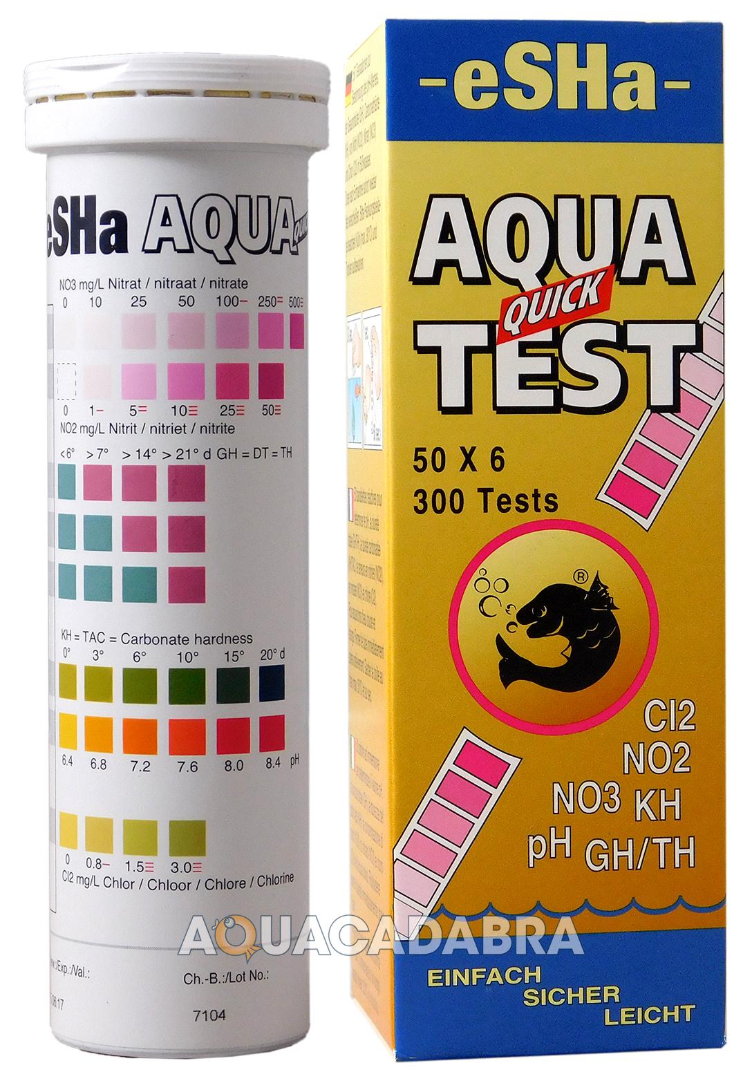 Esha water treatment test strip algae fish tank aquarium for Fish tank test strips
