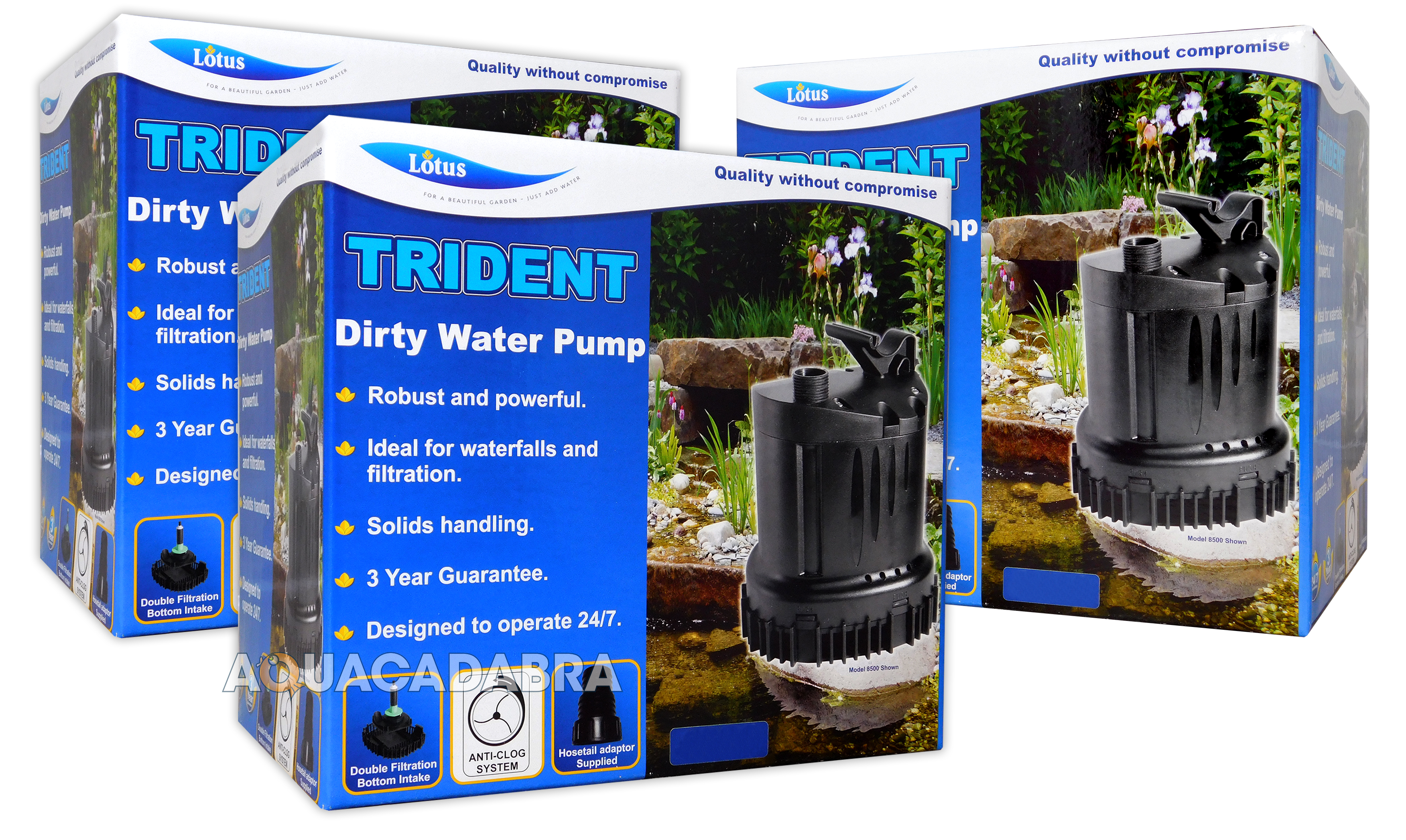 LOTUS TRIDENT DIRTY WATER PUMPS POWERFUL FILTER HANDLES SOLIDS ...