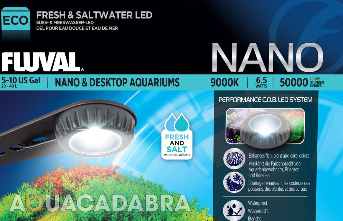 Nano led aquarium fish tank lighting - Fluval Nano Led Lamp Cob 6 5w Up To 40l Fresh Marine Small Aquarium Fish Tank