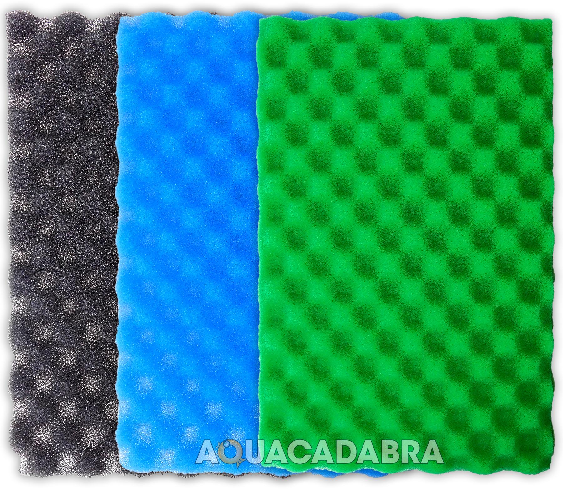 25 x 18 fish pond filter foam set 3 fine medium coarse for Fish pond filter foam