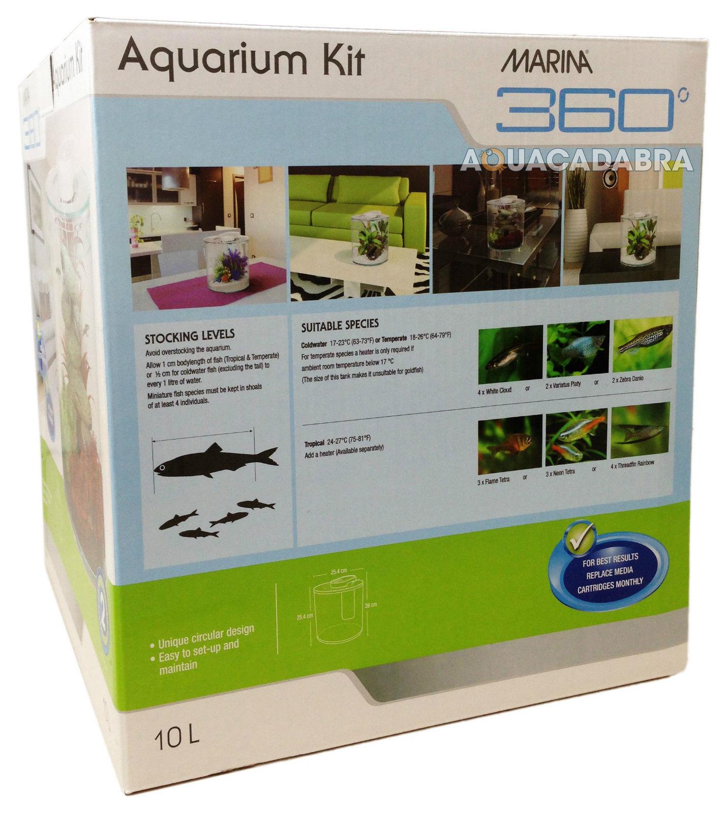 Marina 360 aquarium kit with heater tropical fish tank 2 for Fish tank kit