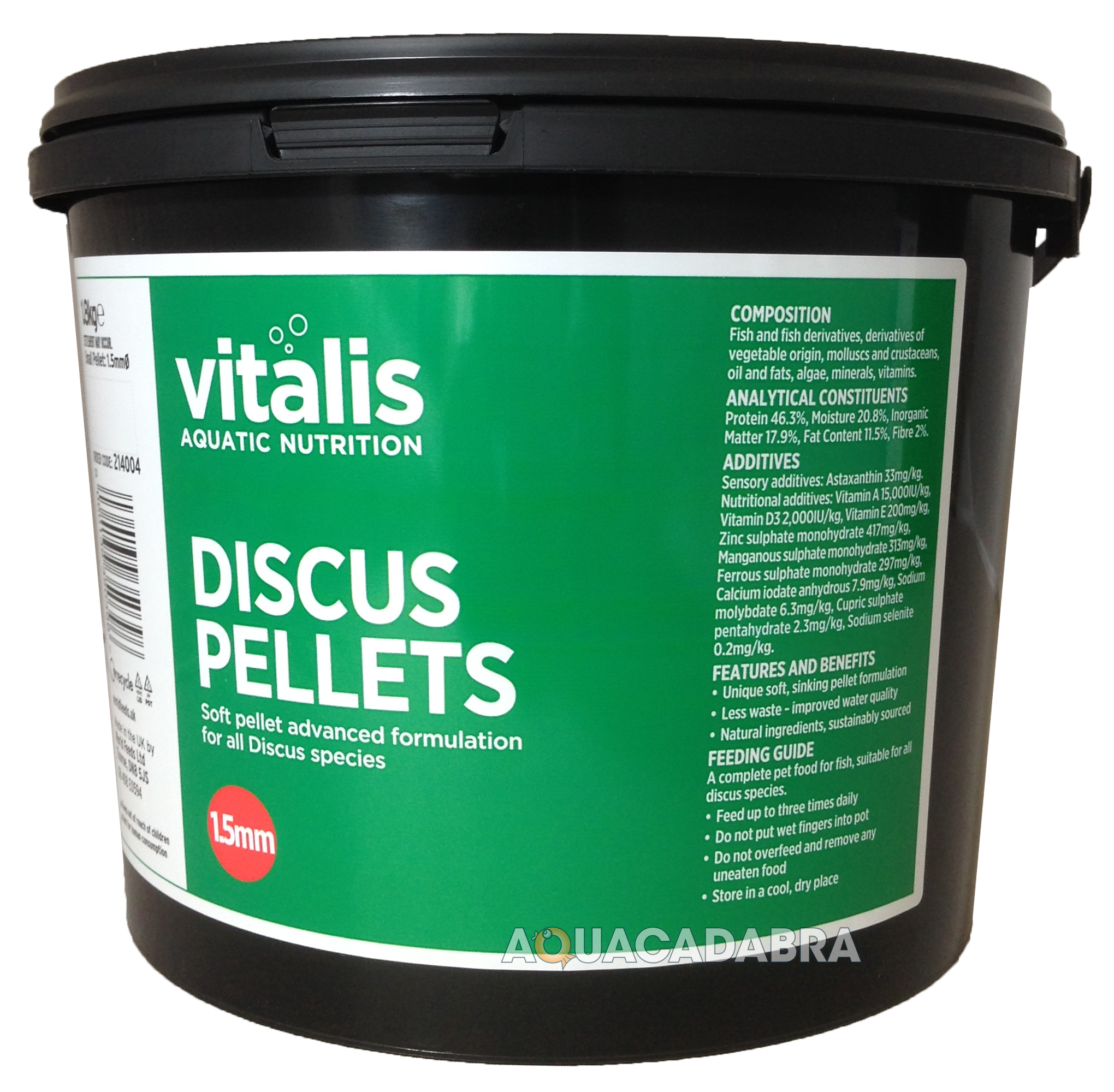 New era vitalis discus pellets sinking tropical fish for Discus fish food