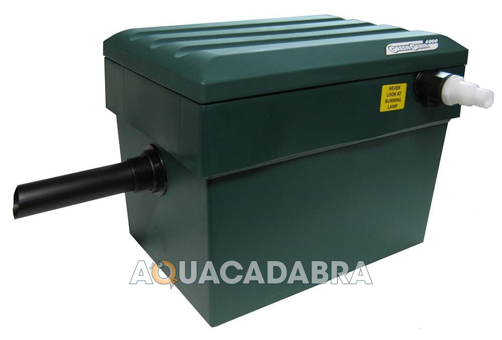 Lotus green genie 6500 uv filter box 18w water clarifier for Above ground fish pond filters