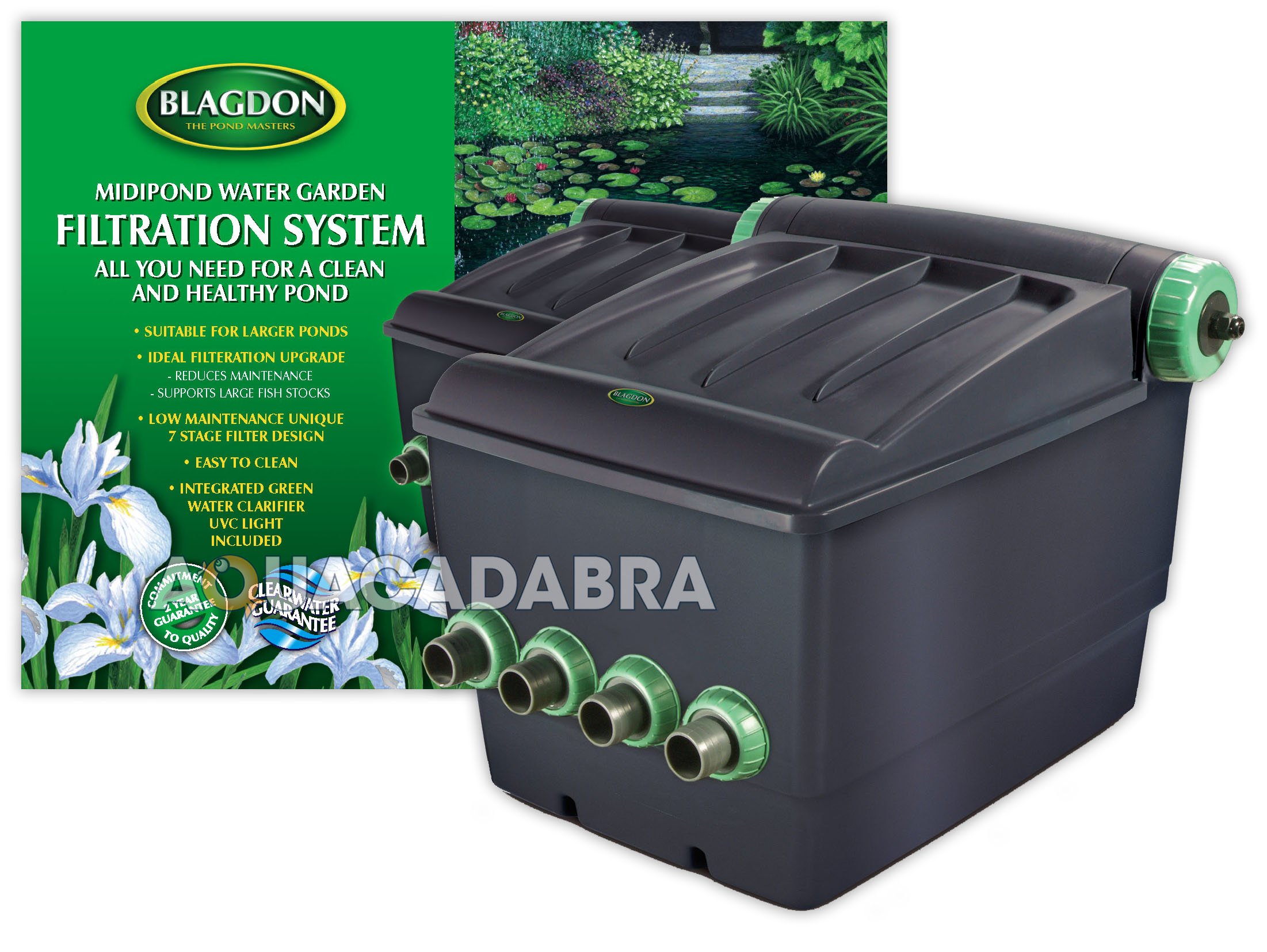 Blagdon midipond filter 10000 uv midi pond gravity uvc for Outdoor fish pond filter