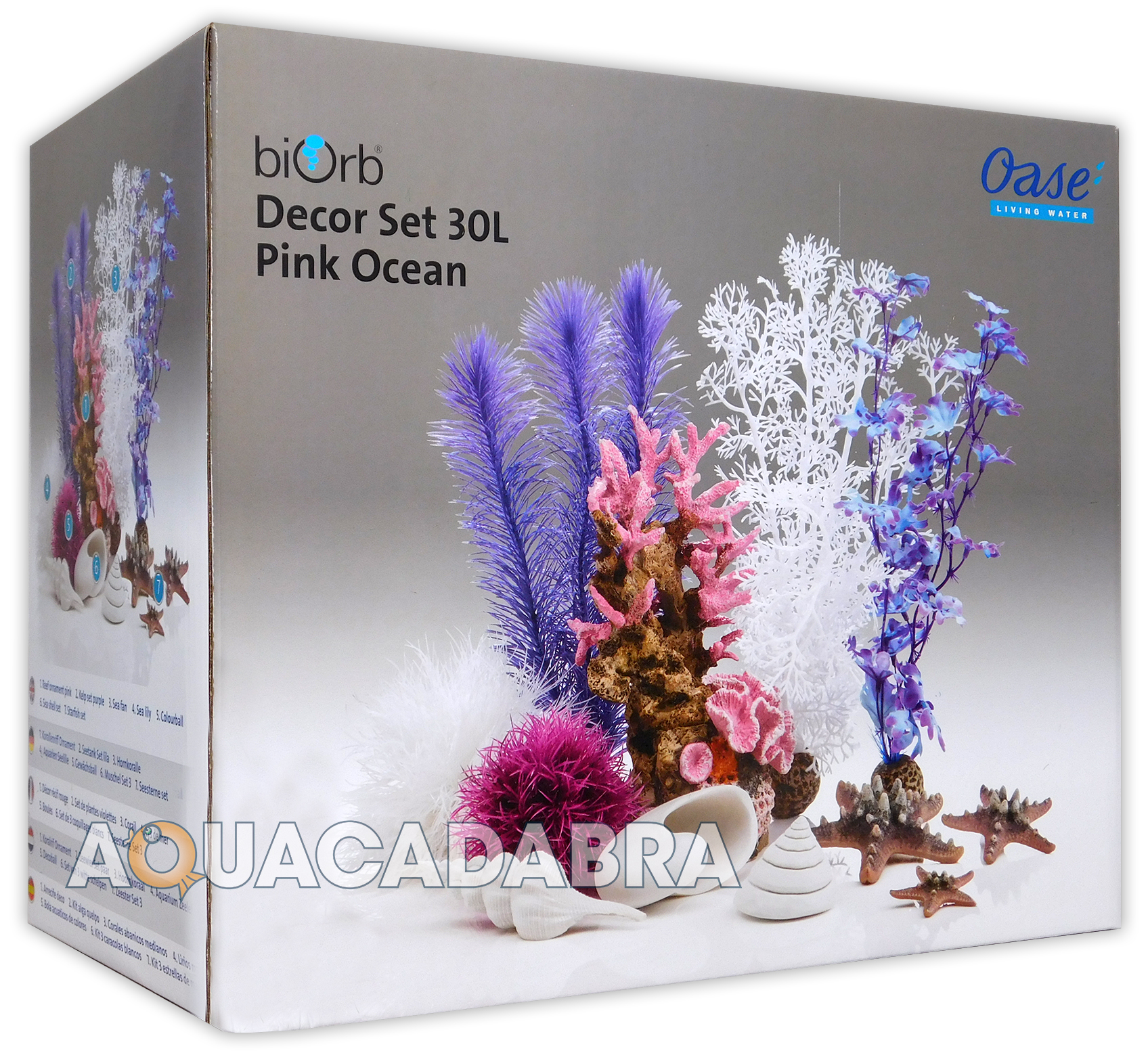 Biorb easy decor kits 15l 30l red green pink collections for Aquarium decoration kits